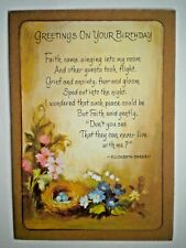 "VINTAGE FRENCH-FOLD ""GREETINGS ON YOUR BIRTHDAY"" GREETING CARD"