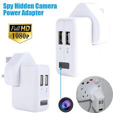1080P HD Spy Hidden Camera Real AC power Adapter Motion Detection Plug Record UK