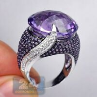 Vintage 925 Silver Purple Moonstone Ring Women Bridal Wedding Jewelry Size 5-11