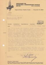 DRESDEN, Brief 1944, Müller & Wetzig Projektions-Vergrösserungs-Apparate-Fabrik