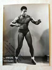 JIM PANTOBE  – PHOTO ORIGINALE SIGNÉE ET DÉDICACÉE - TRÈS RARE – 1948