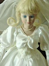 "Dynasty Doll Collection Susanne Bride Doll 18"" Tall Porcelain Doll W Coa"