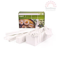 100% Genuine! D.LINE Super Sushi Maker Set 8 Piece White! RRP $34.95!