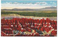 Silent City, Bryce Canyon National Park, Utah, Unused Vintage Linen Postcard