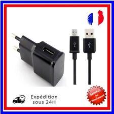 Câble Chargeur Micro usb Noir  Prise Mural USB Secteur Universe/Samsung,HTC etc.