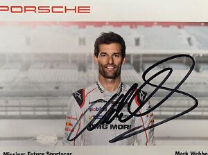 Mark Webber Porsche Autograph, Signed Memorabilia