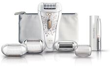 Philips HP6576 Satin Perfect Deluxe Epilator, White/Champagne