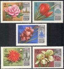 Russia 1978 Rose/Dahlia/Iris/Tulip/Flowers/Plants/Nature/Buildings 5v set n44093