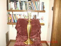Vintage Mid-Century Mod. Retro Art Deco Polished Brass Stiffel Table Lamp