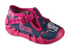 BEFADO girls canvas shoes nursery slippers trainers NEW size 7.5UK BABY GIRL