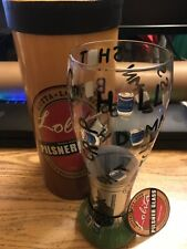 "LOLITA GOTTA LOVE BEER PILSNER BAR GLASS ""TALKING TRASH"" 22 OZ HAND PAINTED"