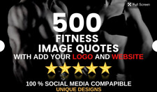 Design 500 Fitness Image Quotes With Your Logo