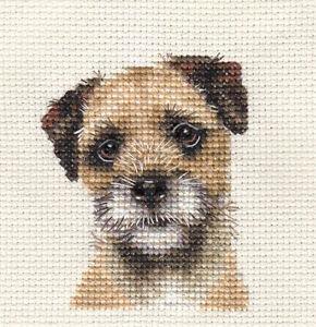 BORDER TERRIER Dog Puppy Full cross stitch kit  All materials Fido Studio