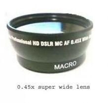 Wide Lens + Case for Sony DCR-DVD653E DCRDVD653E DCR-DVD653 HDR-CX350 HDR-CX350E