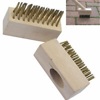 Block Paving Wire Brush Heads Patio grout gap cleaning Moss Weeds roots Brush