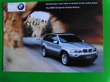 BMW AUSTRALIAN RELEASE BROCHURE 2001- BMW X5 Sports Activity Vehcle  4 Pages EC