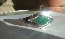 Ericks Sterling Silver Aventurine Bracelet Taxco .950