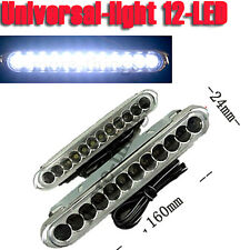 2 Car Truck 12 LED White Universal Day Daytime Running Driving DRL Fog Aux Light