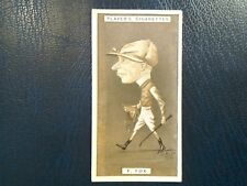 J. PLAYER. 1925.   RACING CARICATURES .  1 ODD CARD . NUMBER 16.