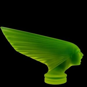 Art Deco Glass Figurine ' Victoire ' Hood Ornament 1930' H.Hoffmann by Lalique