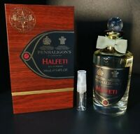 PENHALIGONS HALFETI EAU DE PARFUM EDP PERFUME SAMPLE 3ML ATOMISER GLASS SPRAY.