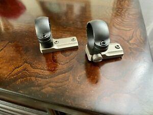 "Leupold 1"" Medium 2-Piece Silver Matte Standard Ring & Base Set Winchester 70"
