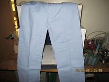 "NAVY Medical Light Blue Broadcloth Elastic Waist Pajama Pants Large 29 1/2"" [C3]"