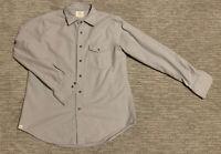 Men's Criquet Flannel Chamois Shirt Grey Size M