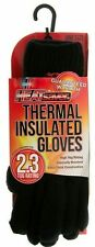 Mens HEATsaver Thermal Insulated Gloves Black 2.3 Tog Extra Thick