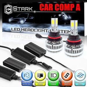 LED 90W 9000LM 6000K 6K White Headlight Kit Dual Hi / Lo Bulbs - 9007 / HB5 (A)