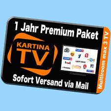 KARTINA TV Russkoe Televidenie IPTV für 1 Jahr Internet TV ABO HD 12 Monate RUSS