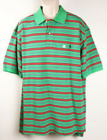 Polo Ralph Lauren Mens Polo Shirt 2XB Big Striped Green Red Short Sleeve New $95