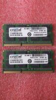 CRUCIAL 16GB 2X8GB PC3L 12800 DDR3 1600MHZ DDR3 204PIN Laptop Memory