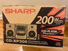 SHARP CD-XP300 Mini Component System 200W 3-disc CD-R/RW NIB