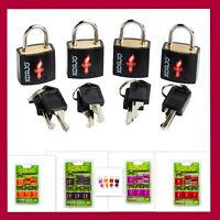 4pcs TSA Approved Security Travel Suitcase Luggage Locks Bag Lock Keyed Padlock