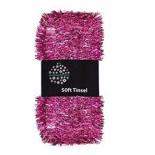 Arbre de noël décoration 50ft x 3cm guirlandes de grande valeur-rose