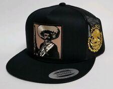Emiliano Zapata Jalisco Hat Black Mesh Trucker Snap Back Adjust New 2Logos