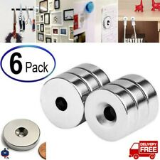 New Listing6pcs Strong Countersunk Ring Magnets Rare Earth Neodymium Amp Hole 20x5mm N52