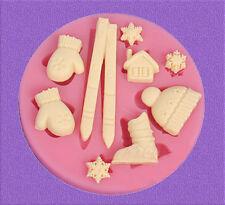 Christmas Silicone Cake Mold Decorating Lace Impression Mat Baking Tool