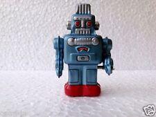 Old Mechanical Windup Walking Space Robot Tin Toy Wit Box Made In JAPAN