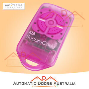 ATA PTX-4 Pink Garage Remote Control - Ptx4 - Suits Reliance Garage Door Motors