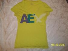 AMERICAN EAGLE OUTFITTERS YELLOW? APPLE GREEN? SHIRT SIZE LARGE CUTE MUST SEE