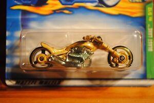 2001 Hot Wheels Treasure Hunt Gold Blast Lane Motorcycle #5/12