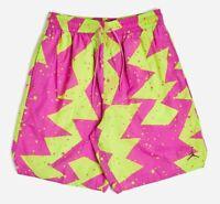 """Nike Air Jordan Mens Jumpman 9"""" Poolside Shorts Pink Green CJ4701-623 Size XL"""