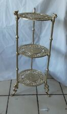 Gold Metal 3 Tier Plant Stand / Side Table  (RP-PS123)