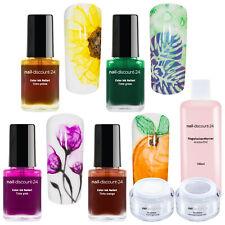 Ink Color Starter Set Summer NailArt Farbe Tinte Polish Marmor Cleaner UV Gel