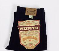 Weipper pantalone nuovo velluto a coste w35 tg 49 blu uomo gamba dritta T2323