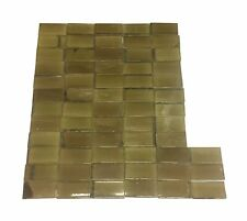 Antique 4 x 2 Tan Crackled Tile Set