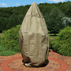 """Sunnydaze Khaki Protective Outdoor Tiered Water Fountain Cover 56 x 68"""""""""""