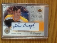 John Bucyk  2003 Upper Deck Legend Trilogy autographed card